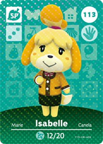 Amiibo Cards Animal Crossing Series 2 Isabelle (Autumn)