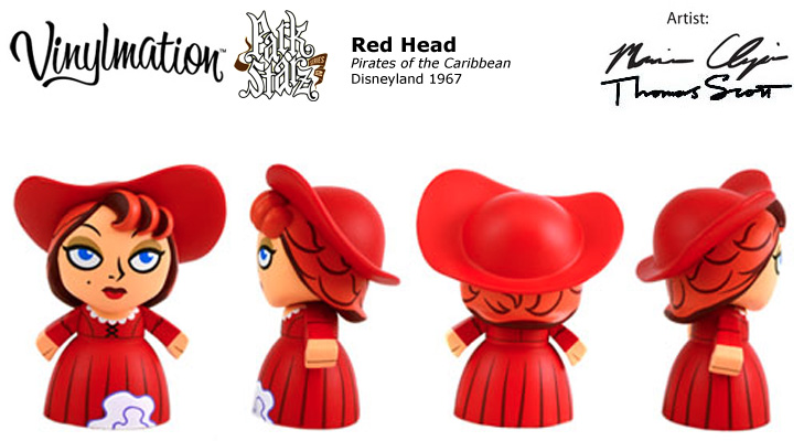 Vinylmation Open And Misc Park Starz 2 Red Head