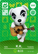 Amiibo Cards Animal Crossing Series 2 K.K. Slider