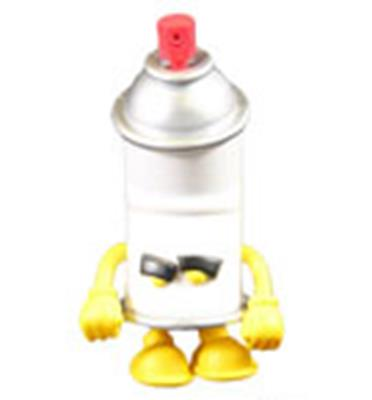 Kid Robot Blind Boxes Bent World Spray Can Yellow
