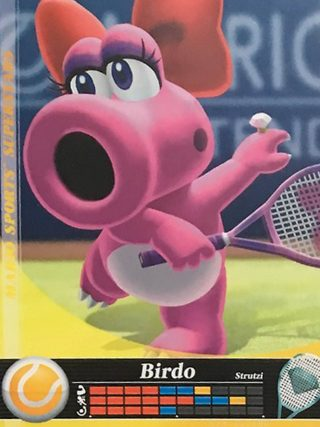Amiibo Cards Mario Sports Superstars Birdo - Tennis Icon