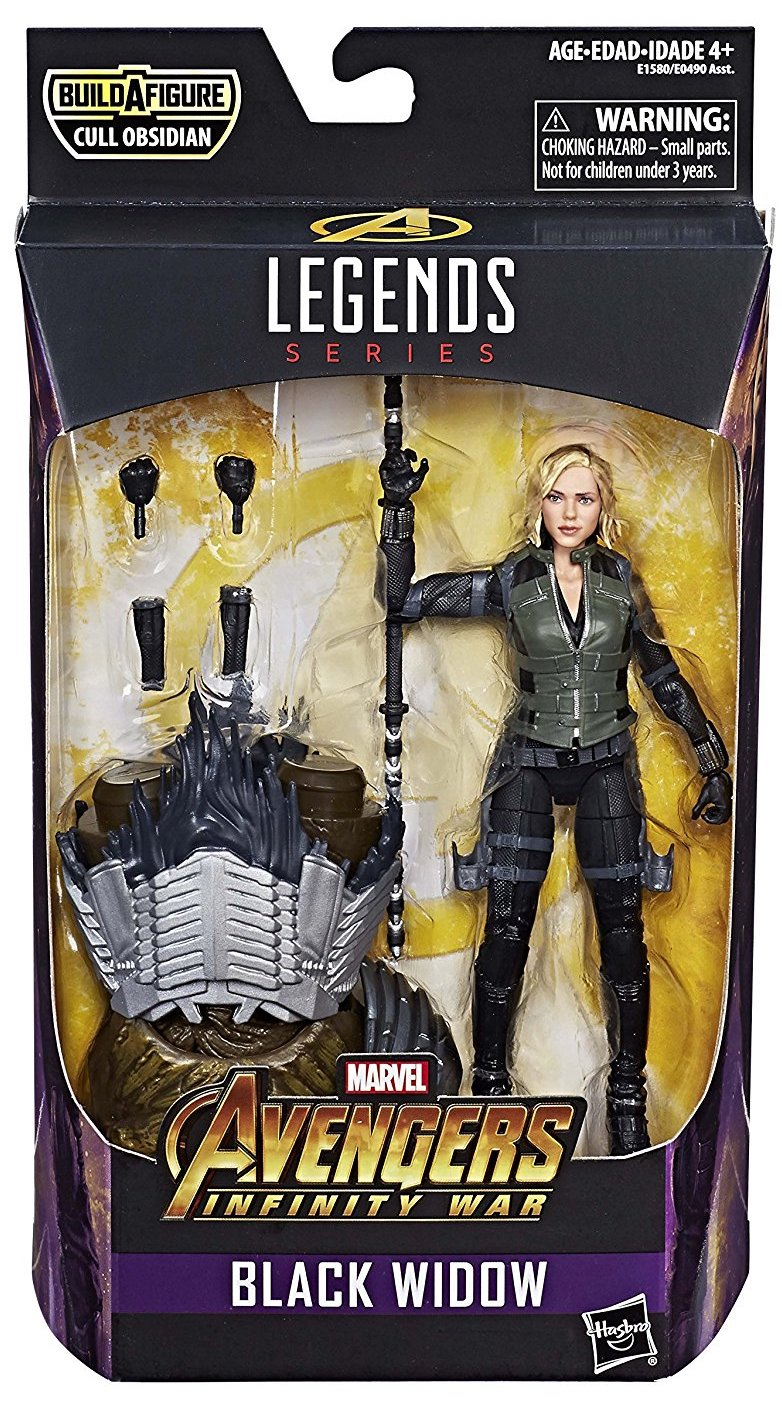 Marvel Legends Cull Obsidian Series Black Widow