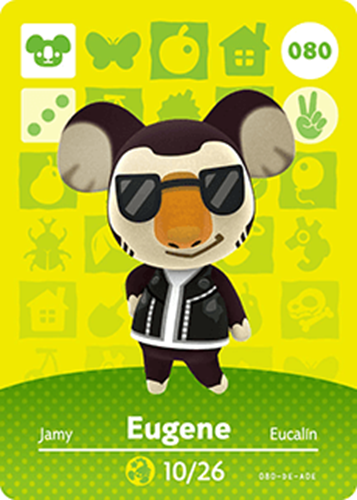 Amiibo Cards Animal Crossing Series 1 Eugene