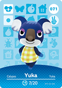 Amiibo Cards Animal Crossing Series 1 Yuka