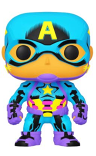 Funko Pop! Marvel Captain America (Black Light) Icon