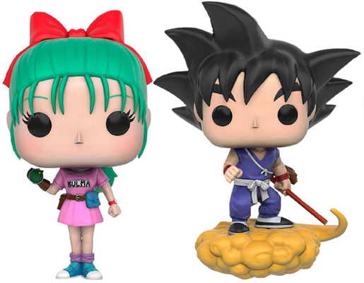 Funko Pop! Animation Bulma and Goku w/ Flying Nimbus Icon Thumb