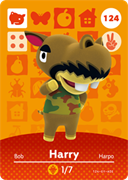 Amiibo Cards Animal Crossing Series 2 Harry