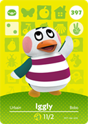 Amiibo Cards Animal Crossing Series 4 Iggly