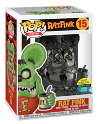 Funko Pop! Icons Rat Fink (Gray Chrome) Stock