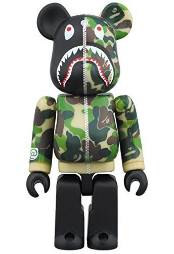 Be@rbrick Bape Camo Shark (Green) 1000%