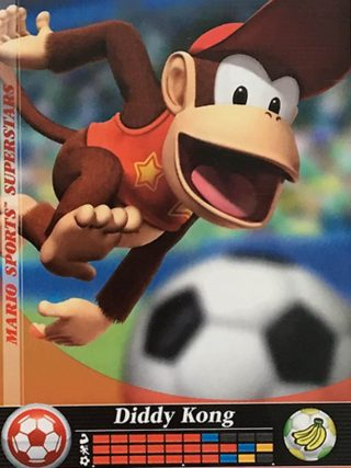 Amiibo Cards Mario Sports Superstars Diddy Kong - Soccer Icon