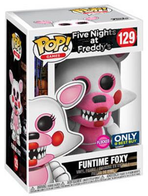 Funko Pop! Games Foxy (Funtime) - Flocked Stock