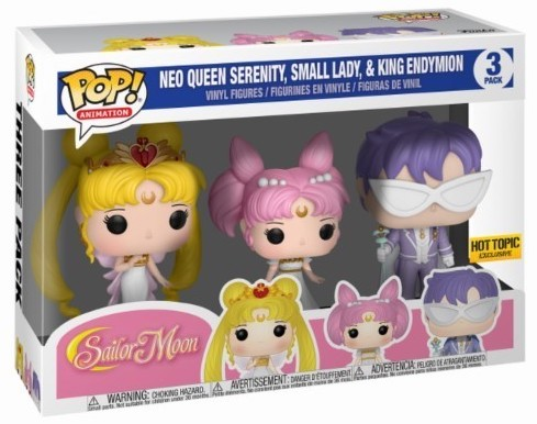 Funko Pop! Animation Neo Queen Serenity, Small Lady & King Endymion Stock