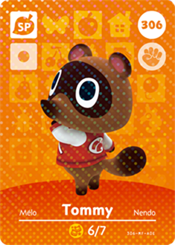 Amiibo Cards Animal Crossing Series 4 Tommy