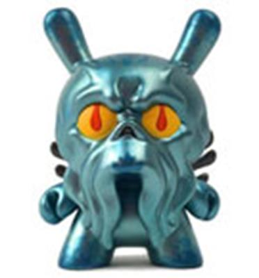 Kid Robot Special Edition Dunny Blue Metallic Howie Phillips Stock
