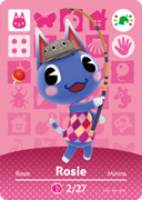 Amiibo Cards Animal Crossing Promotional Cards Rosie