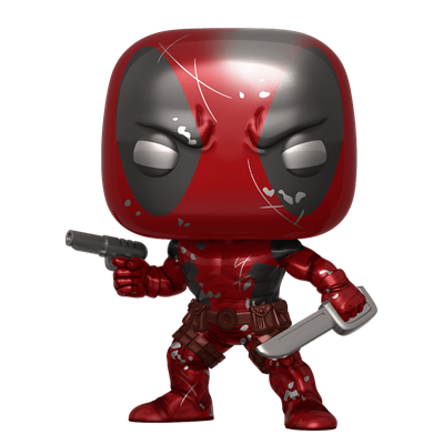 Funko Pop! Marvel Deadpool (Metallic) (First Appearance) Icon Thumb