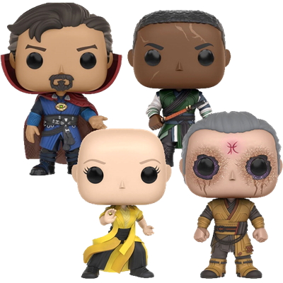 Funko Pop! Marvel Doctor Strange, Karl Mordo, Ancient One & Kaecilius