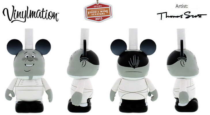 Vinylmation Open And Misc Holiday 2013 Epcot Food & Wine Festival 'Gusteau ghost'