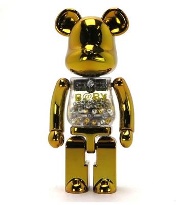 Be@rbrick My First B@by Be@rbrick Gold & Silver Baby 1000% Icon