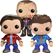 Funko Pop! Television Sam, Dean & Crowley (Metallic/Bloody)