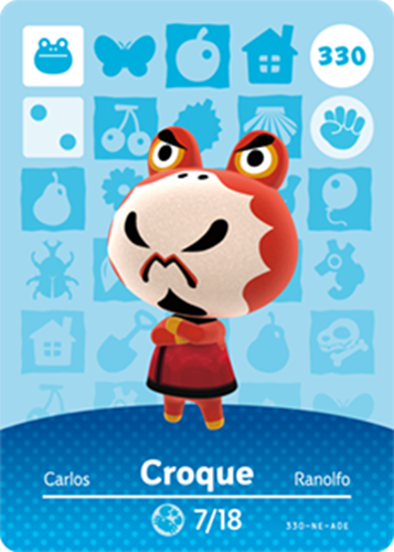 Amiibo Cards Animal Crossing Series 4 Croque