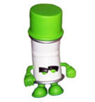 Kid Robot Blind Boxes Bent World Spray Can Green