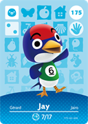 Amiibo Cards Animal Crossing Series 2 Jay