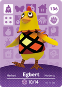 Amiibo Cards Animal Crossing Series 2 Egbert
