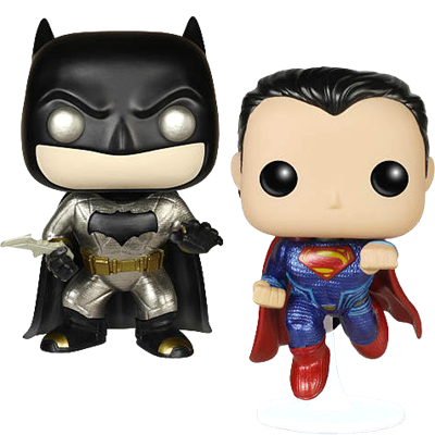 Funko Pop! Heroes Batman vs Superman (Metallic)