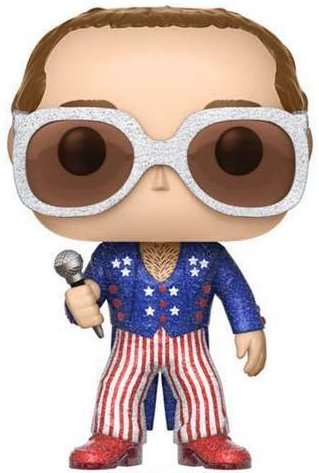 Funko Pop! Rocks Elton John (Red, White & Blue) - Glitter Icon