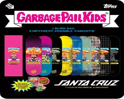 Garbage Pail Kids Santa Cruz Skateboards NUCLEAR GLOW (RARISH) GITD BLACK
