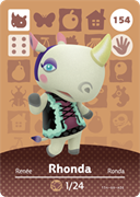 Amiibo Cards Animal Crossing Series 2 Rhonda