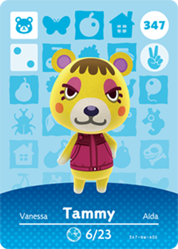 Amiibo Cards Animal Crossing Series 4 Tammy