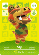 Amiibo Cards Animal Crossing Series 2 Sly