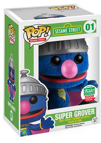 Funko Pop! Sesame Street Super Grover (Flocked) Stock