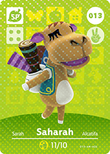 Amiibo Cards Animal Crossing Series 1 Saharah