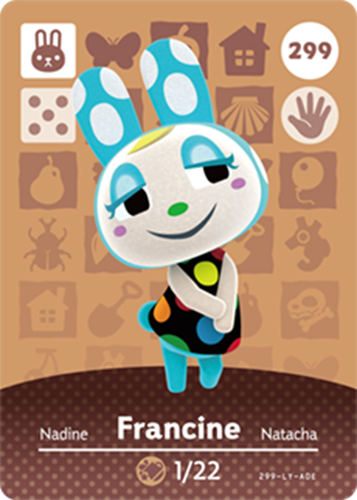 Amiibo Cards Animal Crossing Series 3 Francine