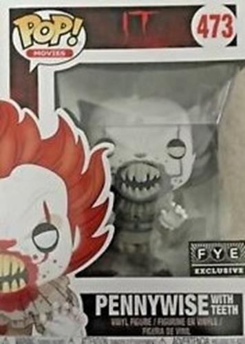 Funko Pop! Movies Pennywise (w/ Teeth) - B&W Stock