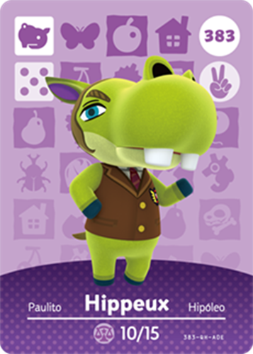 Amiibo Cards Animal Crossing Series 4 Hippeux
