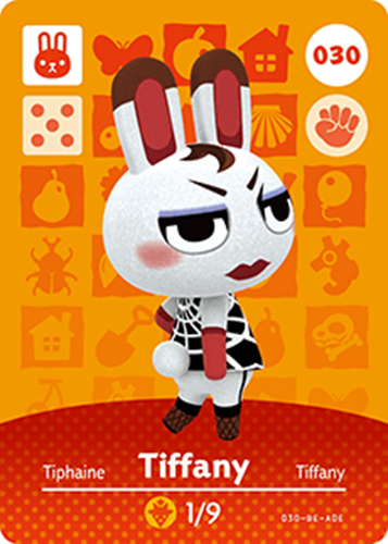Amiibo Cards Animal Crossing Series 1 Tiffany