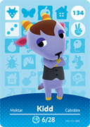 Amiibo Cards Animal Crossing Series 2 Kidd