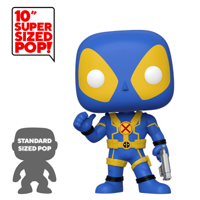 Funko Pop! Marvel Deadpool (Blue) (Yellow) (10 inch)