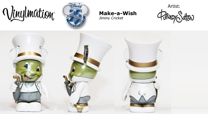 Vinylmation Open And Misc Exclusives Make-a-Wish Jiminy Cricket