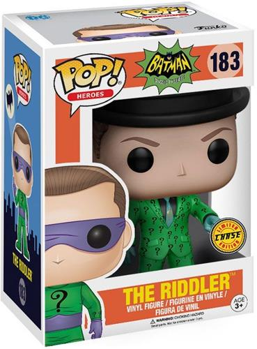 Funko Pop! Heroes The Riddler (Classic TV) - CHASE Stock