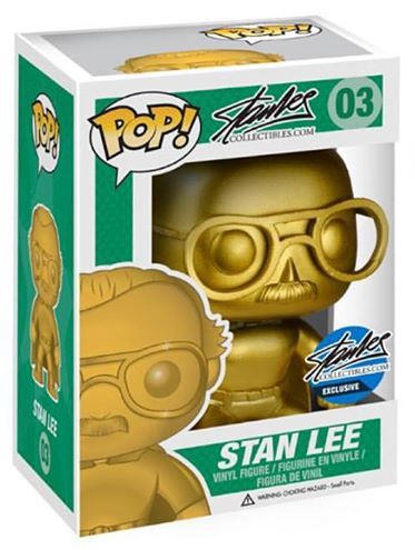 Funko Pop! Stan Lee Stan Lee (Superhero) - Gold Stock