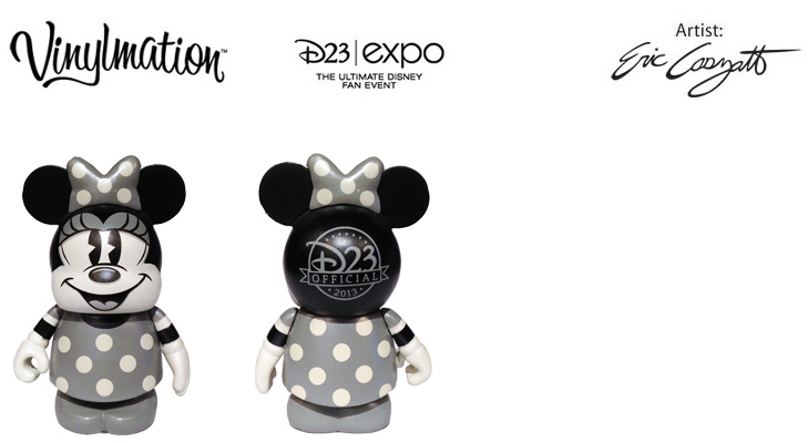 Vinylmation Open And Misc D23 LE Black & White Minnie - pin