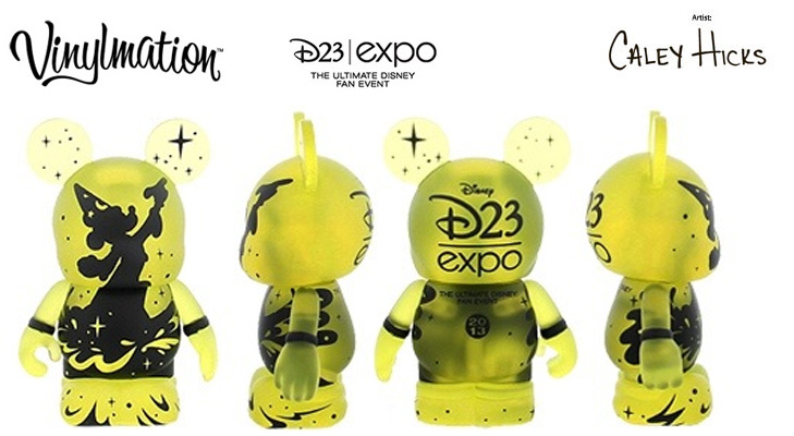 Vinylmation Open And Misc D23 Sorcerer Logo 'yellow'