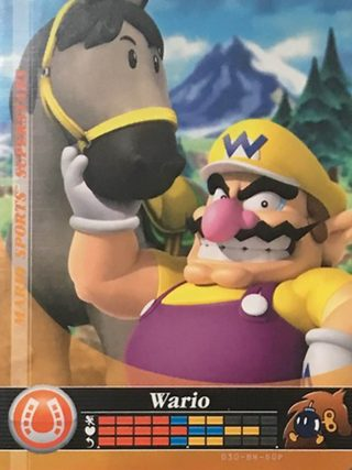 Amiibo Cards Mario Sports Superstars Wario - Horse Racing Icon