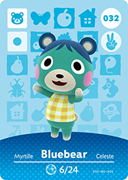 Amiibo Cards Animal Crossing Series 1 Bluebear